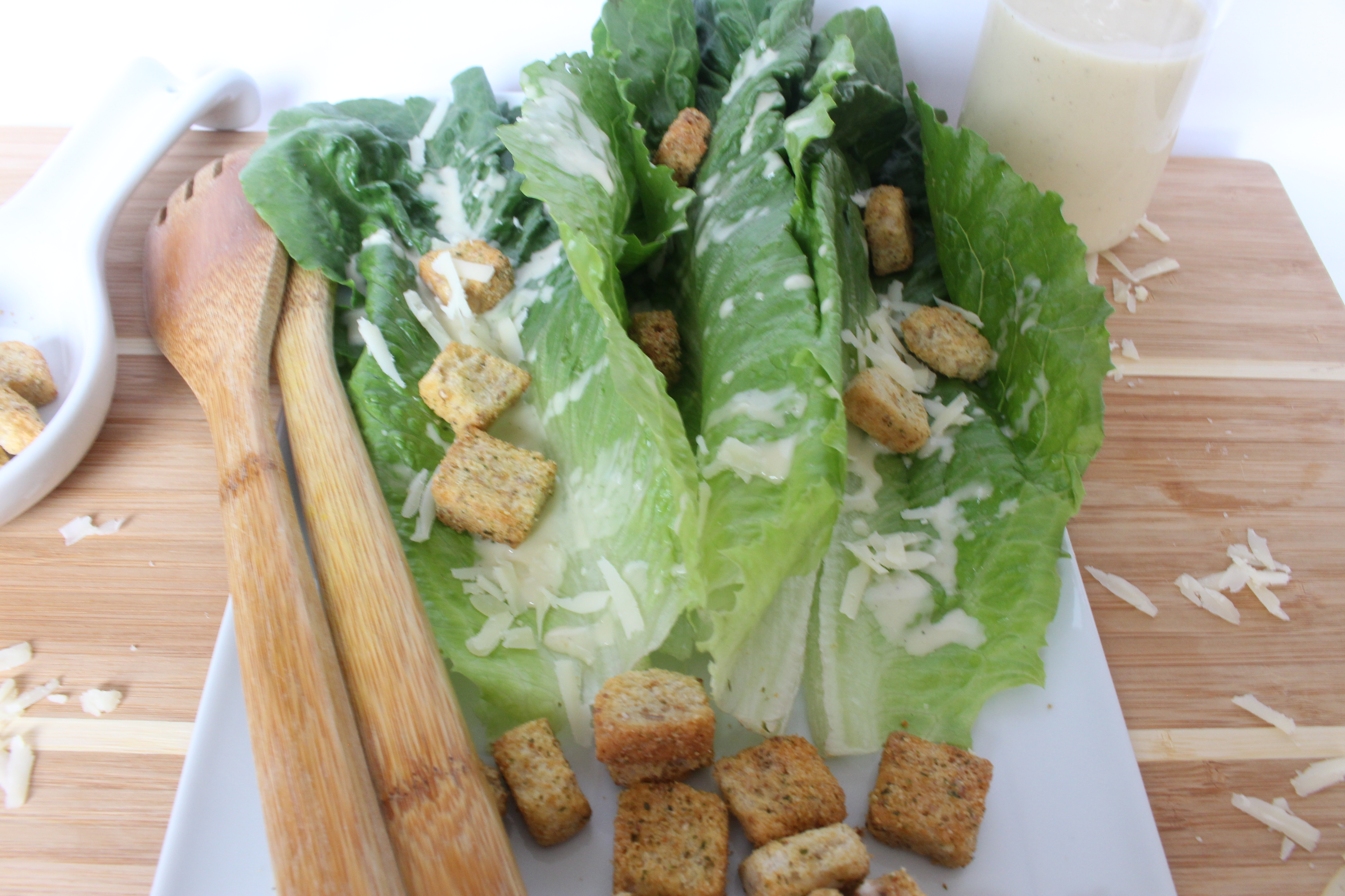 vegan egg-less caesar salad dressing