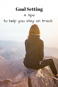 goal setting and staying on track